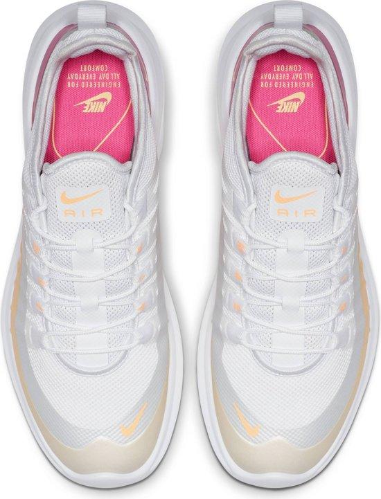 Nike Air Max Axis Prem Sneakers Dames - White/Melon Tint-Laser Fuchsia