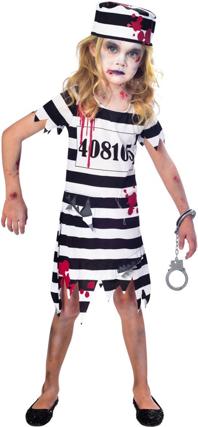Children s Costume Zombie Convict Girl 11 - 12 Years