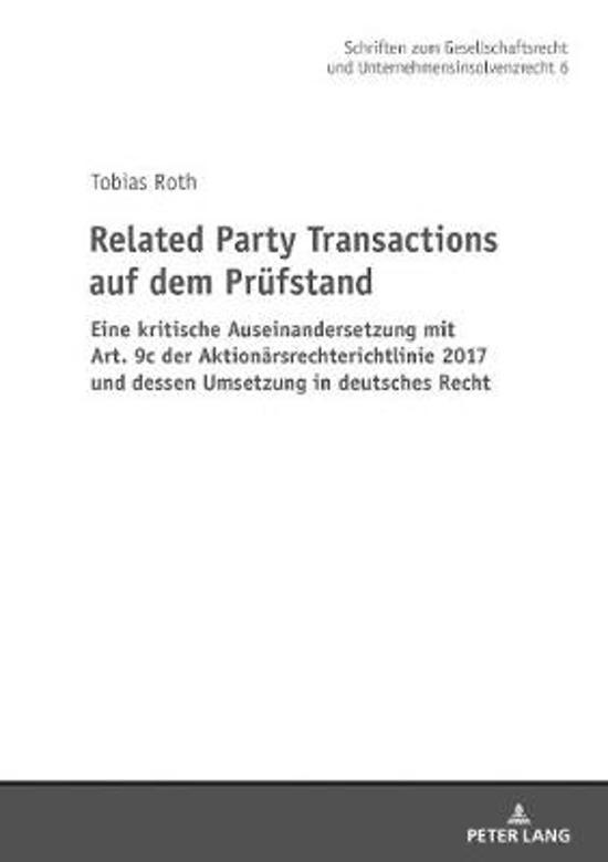 Related Party Transactions Auf Dem Pruefstand