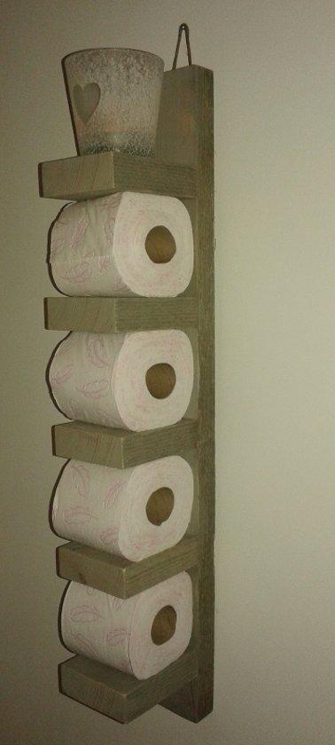 Wc Rollen Houder Schaap.Steigerhout Toilet Rol Houder