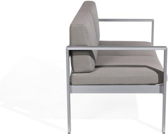 Beliani SALERNO Tuinbank Grijs Aluminium