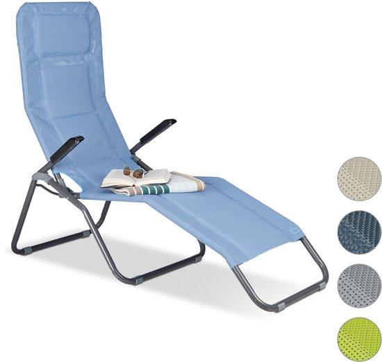 Fabulous bol.com | relaxdays ligstoel XXL gepolsterd - lange tuinstoel US86