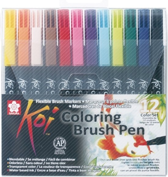 Koi Coloring Brush Pen 12 kleuren