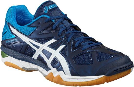 Asics Gel-Tactic Indoorschoenen Heren Sportschoenen - Maat 44 - Mannen - blauw/wit