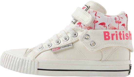 3791255143e British Knights ROCO Meisjes sneakers hoog - Wit - maat 35