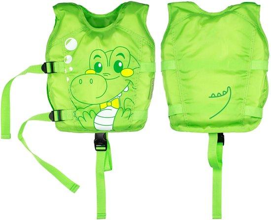 Zwemvest krokodil - kind - baby - dreumes - peuter - 1 tot 3 jaar - groen
