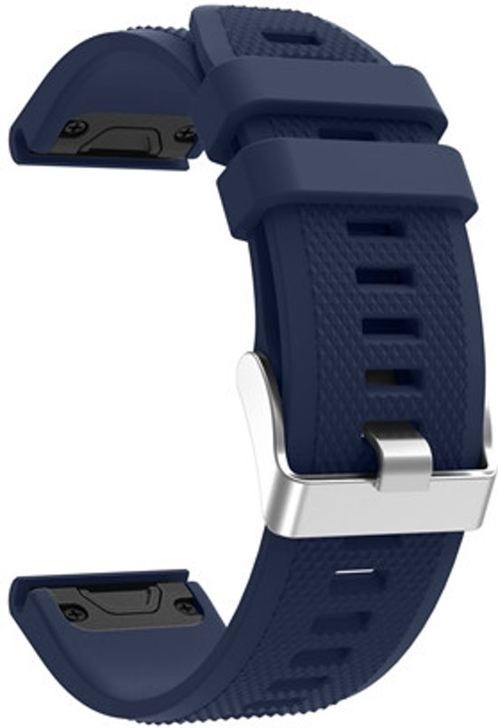 Siliconen Horloge Band Voorr Garmin Fenix 5S (Plus) / Sapphire Band Strap - Armband Polsband Sportband - 20MM Quickfit - Small/Large - Donker Blauw