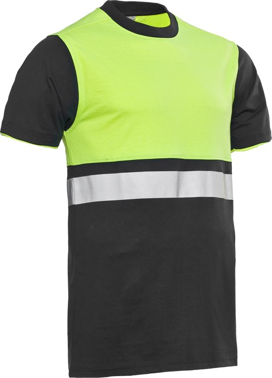 Santino Hivis t-shirt Hannover - 120149 - graphite / fluor geel - maat XL