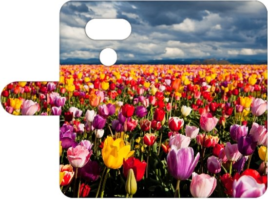 LG G5 Uniek Boekhoesje Tulpen Met Opbergvakjes in Linne