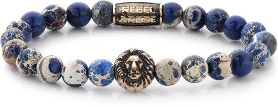 Rebel&Rose armband - Universe Blue - yellow gold plated