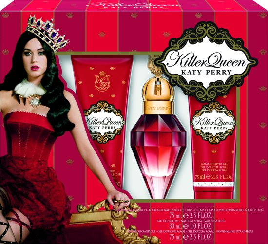 Katy Perry Killer Queen Eau de Parfum 30 ml + Showergel 75 ml + Bodylotion 75 ml - Geschenkset