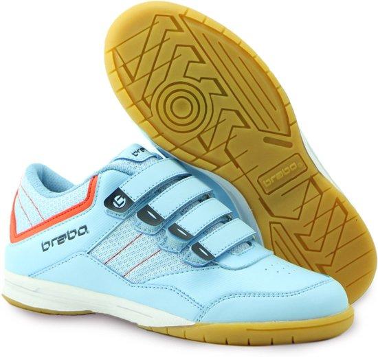 5126000a30e Brabo Klittenband Indoor Sportschoenen - Maat 35 - Unisex - licht blauw/rood