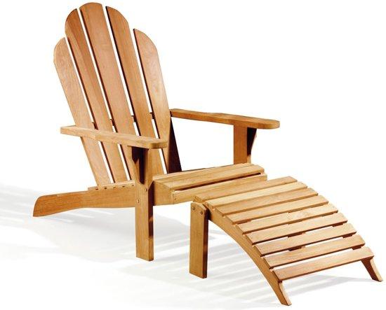 Rotan Lounge Stoel : Bol adirondack loungestoel met voetenbank