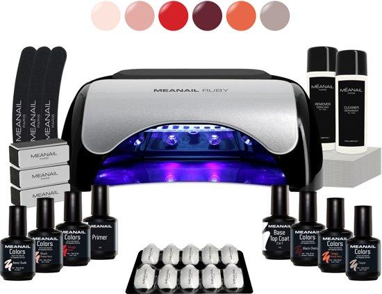 MEANAIL® Kit Ruby - UV/Led lamp 48w – 6 kleuren Cruelty Free - Gel nagellak