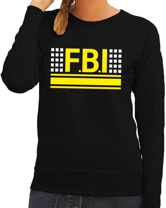 Politie FBI logo sweater zwart voor dames L