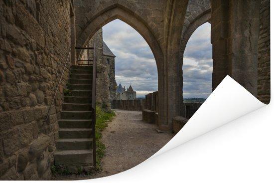 Uitzicht op het interieur van de citadel in Frankrijk Poster 180x120 cm - Foto print op Poster (wanddecoratie woonkamer / slaapkamer) XXL / Groot formaat!