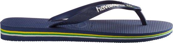 Logo Brasil Maat Slippers 45 blue Havainas 46 Navy 478qHw
