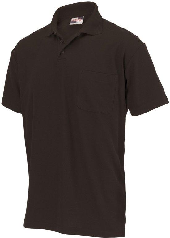 Tricorp Poloshirt borstzak - Casual - 201011 - Zwart - maat XXL