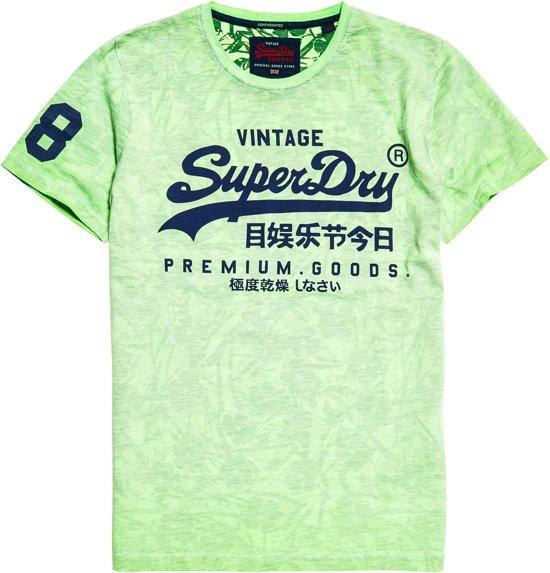Superdry T-Shirt Vintage Logo Fluor Green (M10109YT - 2F7) - M