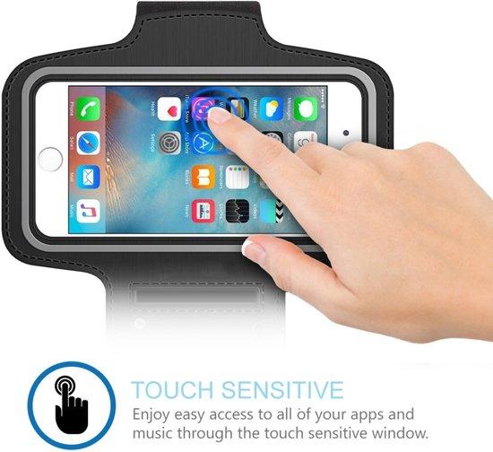Sport Armband voor Samsung hardlopen Spatwatervrij, Reflecterend / Neopreen / Comfortabel / Verstelbaar / Koptelefoon / Aansluitruimte en Sleutelhouder - Zwart 1