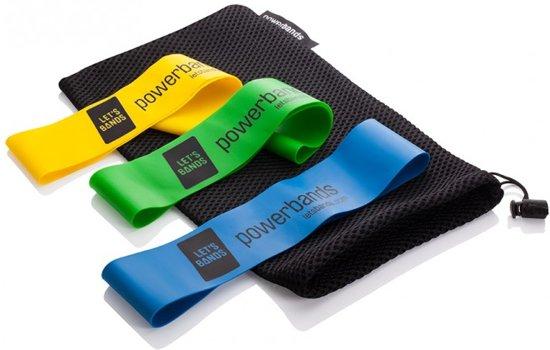Powerbands MINI Set - Geel / Blauw / Groen - Weerstands banden set