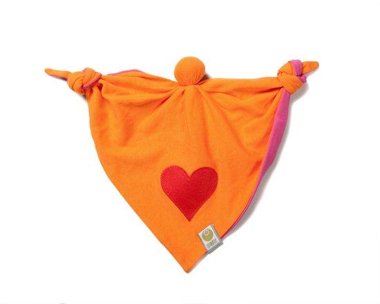 ByKay Knuffelpopje - Fuchsia/Oranje/Hart Rood