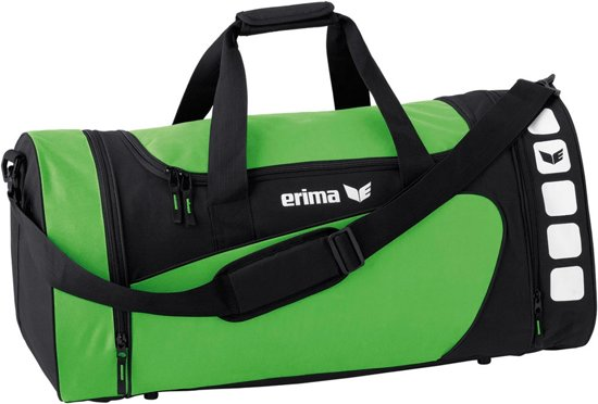 Erima Club 5 Line Sporttas Large - Green/Zwart