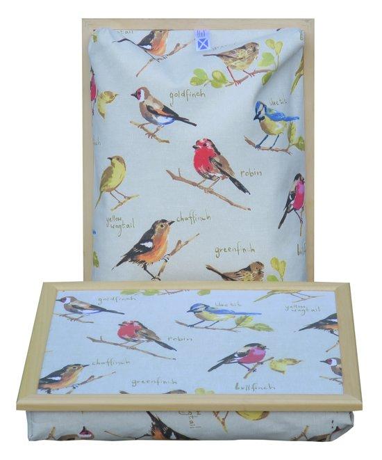 Margot Steel laptray/schoottafel Vogeltjes - 41 x 31 10 cm
