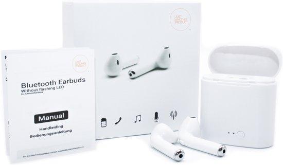 JustAnotherProduct Draadloze oortjes - Verbeterde batterij - Bluetooth oordopjes - Alternatief Airpods - Bluetooth oortjes - Inclusief oplaadbox - Wit