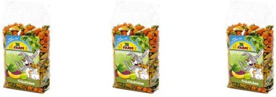 JR Farm - Fruitsnack - 150g - Verpakt per 3 doosjes - Knaagdierensnack