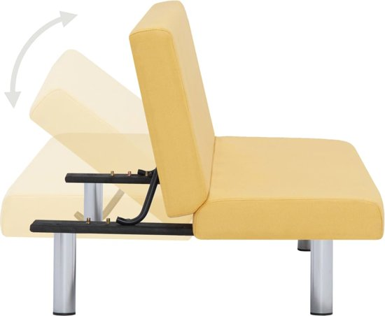 vidaXL Slaapbank polyester geel