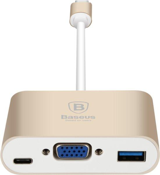 Baseus Sharp Series Type-C To VGA+HUB Adapter Luxury