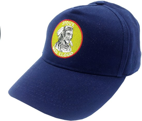 Lauren Rose 'Indian First Nations' Washed Blue Snapback cap