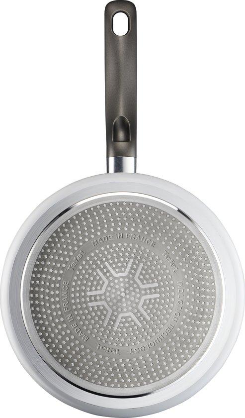 Tefal Ceramic Control White Induction Hapjespan met Deksel 24 cm