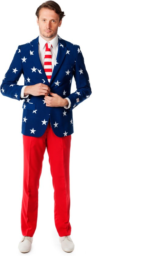 OppoSuits Stars and Stripes - Kostuum - Maat 52
