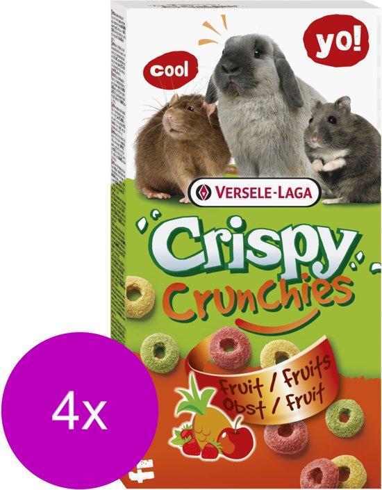 Versele-Laga Crispy Crunchies - Knaagdiersnack - 4 x Fruit 75 g