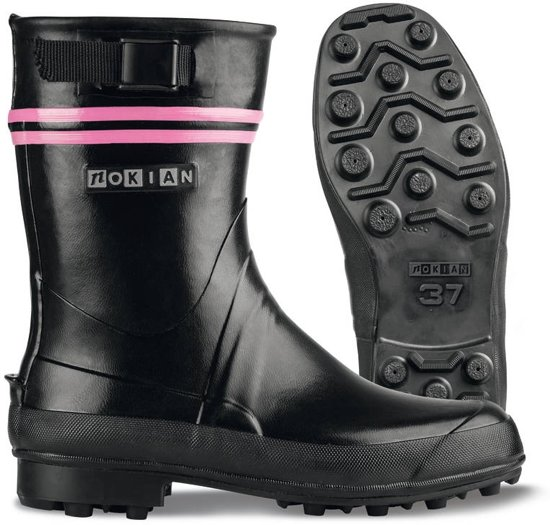 Nokian Footwear - Rubberlaarzen -Finntrim Black Edition- (Outdoor) zwart/roze, maat 35 [411-31-35]