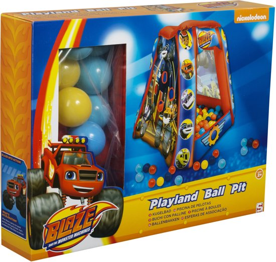 Blaze Playland Square Ball Pit with 20 Balls