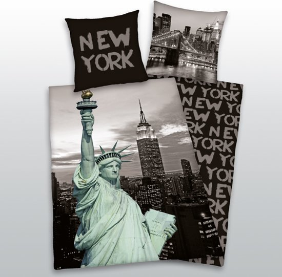 dekbedovertrek vrijheidsbeeld state of liberty. Black Bedroom Furniture Sets. Home Design Ideas