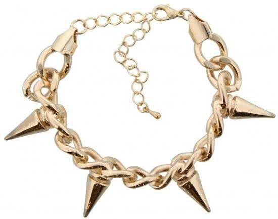 Armband – Spikes – Stoer - Goudkleurig
