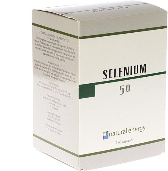 Selenium 50 Natural Energy 180 Capsules