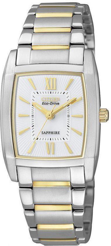 Citizen - Eco-Drive EP5794-58C - Horloge - Staal - 25 mm - Bicolor/Wit