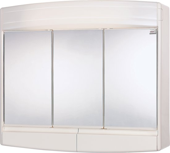 differnz topas eco spiegelkast 3 deurs met verlichting