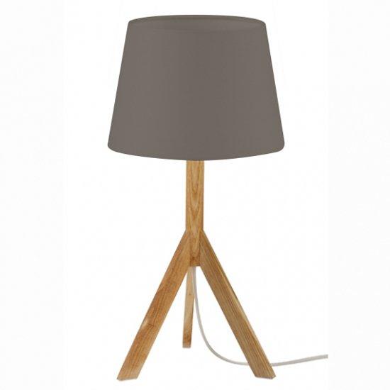 Genoeg bol.com | Design Albert Tafellamp - Hout - Ø20 x 40 cm - Taupe PS19