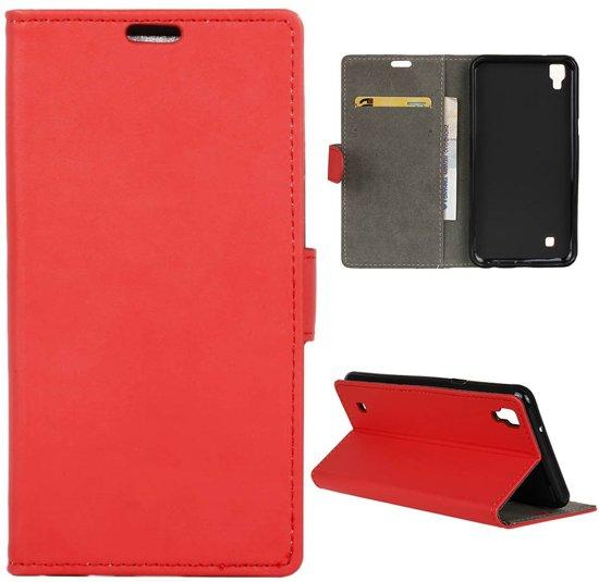 LG X Power Book Case Hoesje - Rood in Groot Maarslag