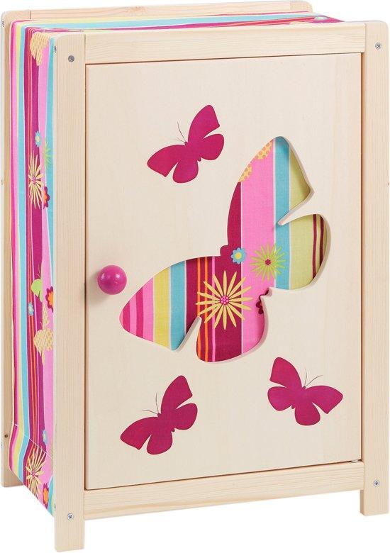 """howa Poppen Kledingkast """"Butterfly"""" van hout 1605"""