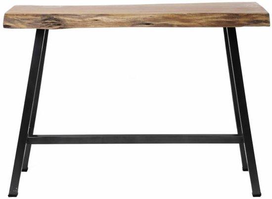 Duverger Nature - Bartafel - massief Acacia - naturel - metalen frame - zwarte poedercoat finish