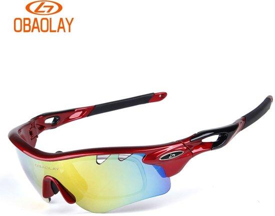 Fietsbril / Wielrenbril / Sportbril / Zonnebril met 5 Verwisselbare Voorzet Lenzen - OB0896RB