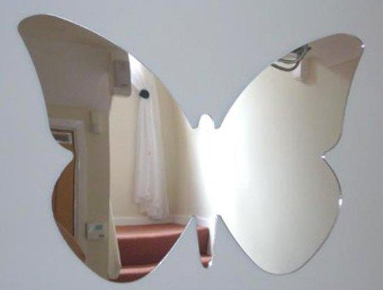 Spiegel Zonder Lijst : Bol a different shop vlinder spiegel acryl cm