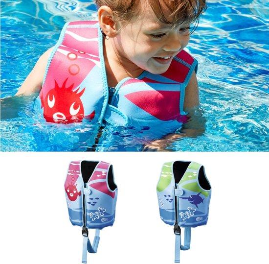 Beco Sealife – Zwemvest kind – Drijfvest voor kinderen van 18-30 kg  – Maat M - Blauw/Groen